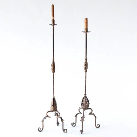 Vintage Pair of Iron Floor Lamps