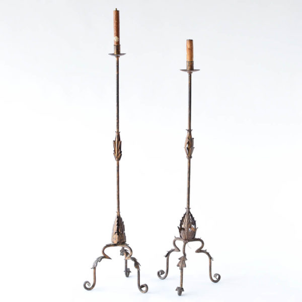 Vintage Pair of Iron Floor Lamps