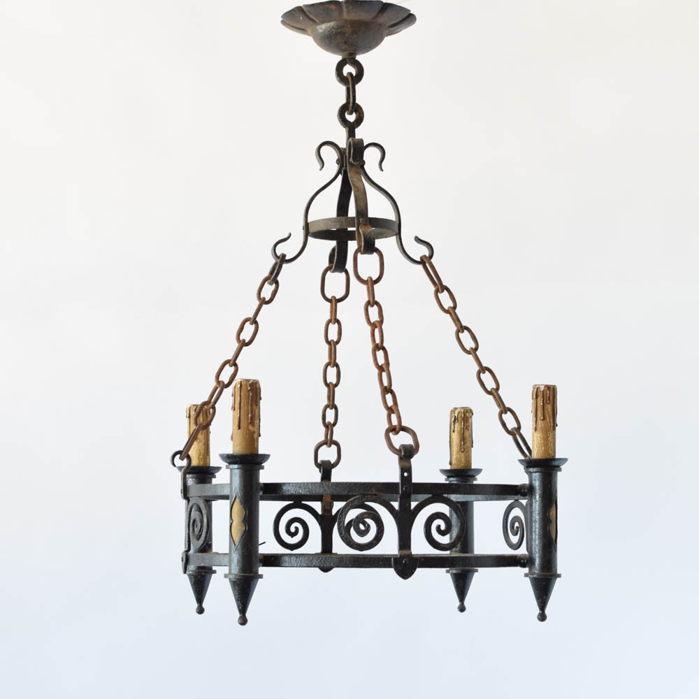 Iron Ring Chandelier : Campernel Designs