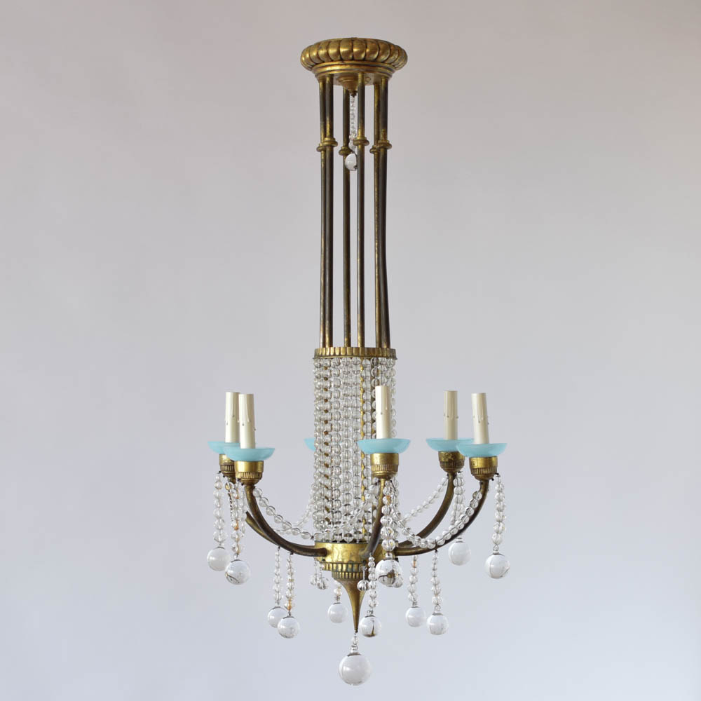 Crystal chandelier with blue cups the big chandelier antique french chandelier with clear crystal balls and blue bobesches arubaitofo Choice Image