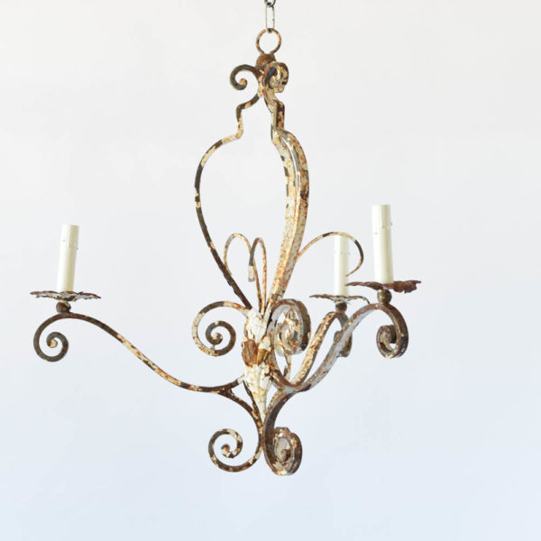 Antique Iron French Chandelier