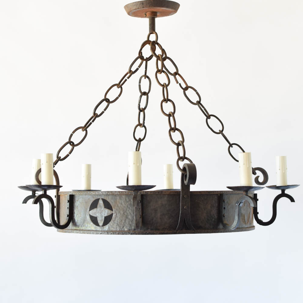 Cut out chandelier chandelier designs iron chandelier w star cut out the big arubaitofo Images
