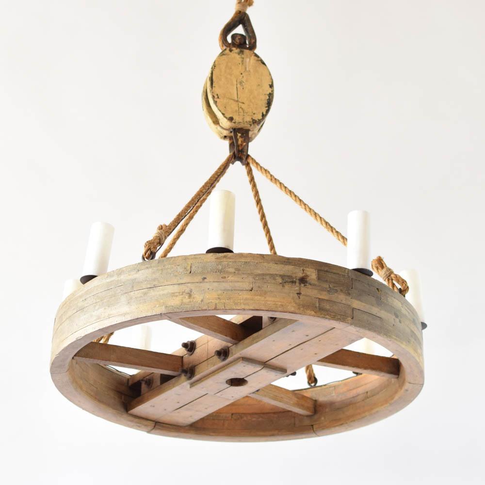 Wood flywheel block walabaster the big chandelier arubaitofo Choice Image