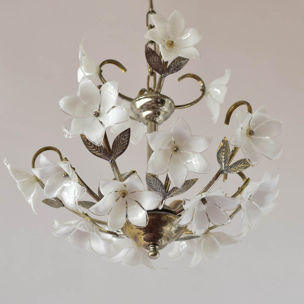 Glass flower chandelier the big chandelier glass flower italian chandelier 700 arubaitofo Images