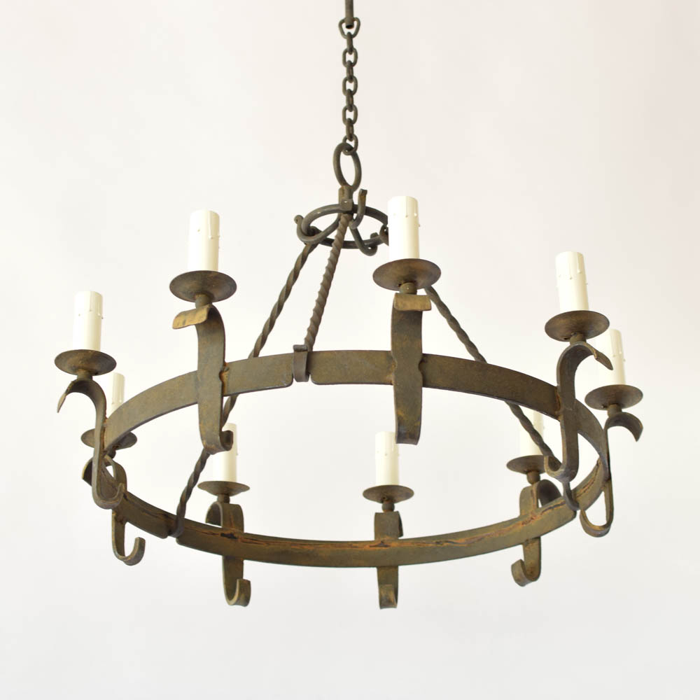 Simple ring chandelier the big chandelier simple iron ring chandelier from belgium arubaitofo Choice Image