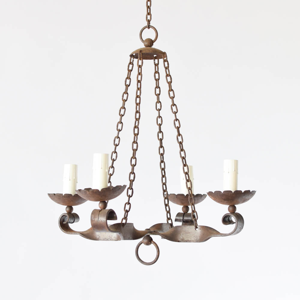Small iron chandelier the big chandelier small vintage iron chandelier from france aloadofball Images