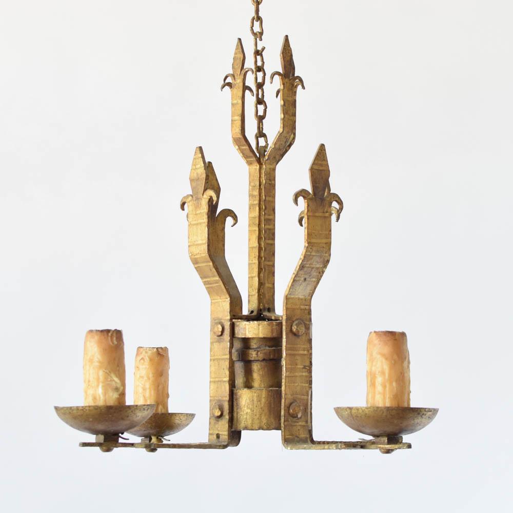 Gilded spanish chandelier the big chandelier gilded spanish chandelier mozeypictures Choice Image