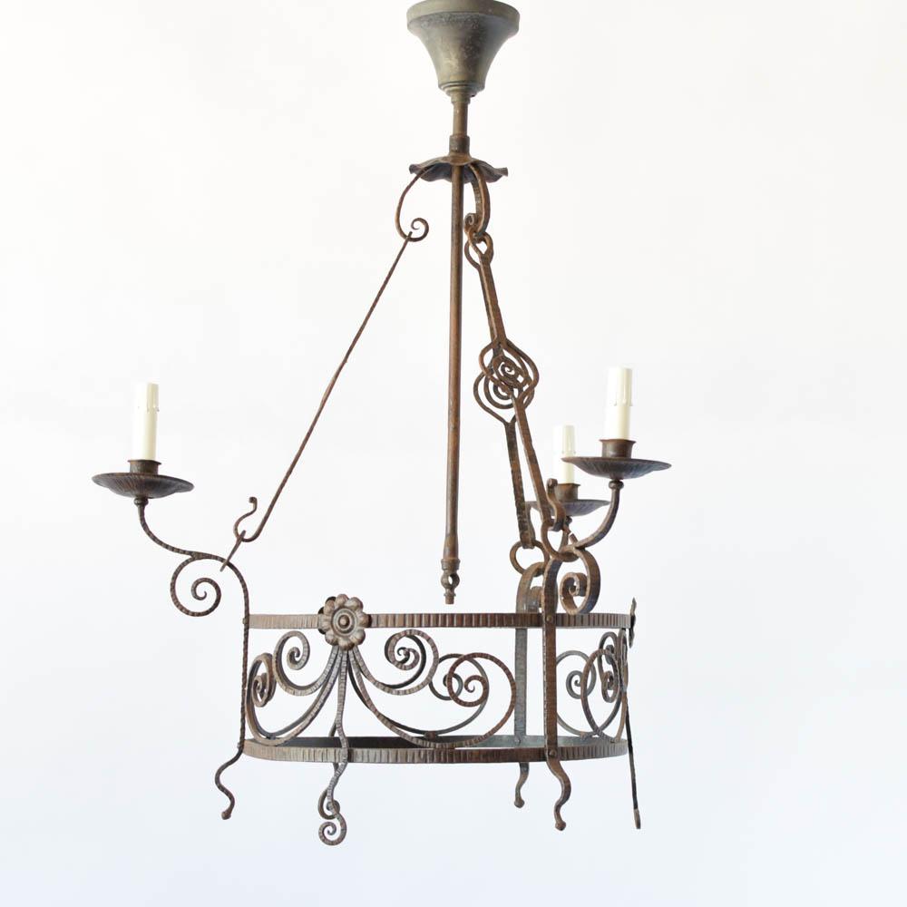 Arts crafts chandelier the big chandelier vintage iron arts crafts chandelier aloadofball Images