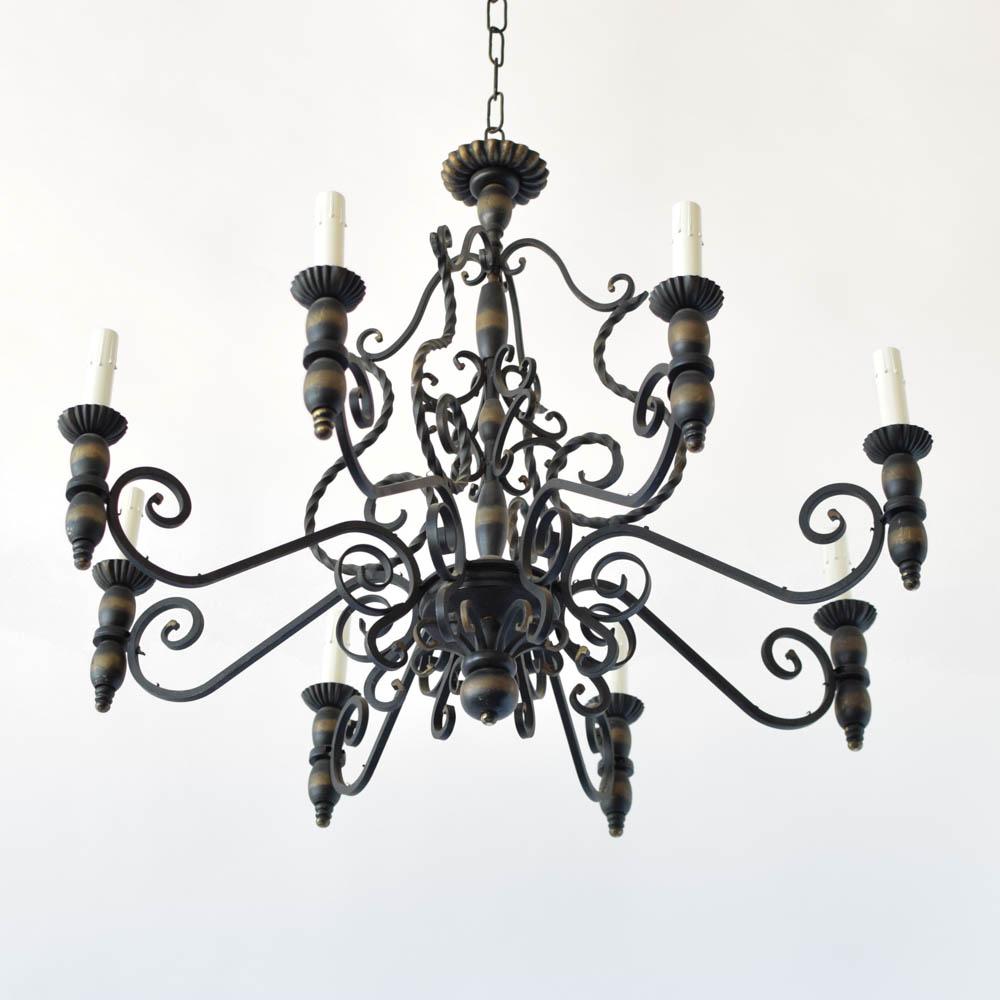 Large iron chandelier the big chandelier aloadofball Choice Image