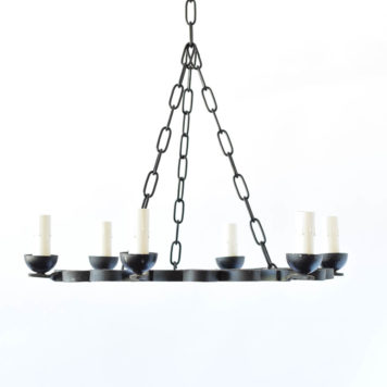 Vintage Belgian Chandelier in Simple Ring Form