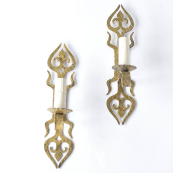 Vintage Spanish Sconces with Arts and Crafts Design
