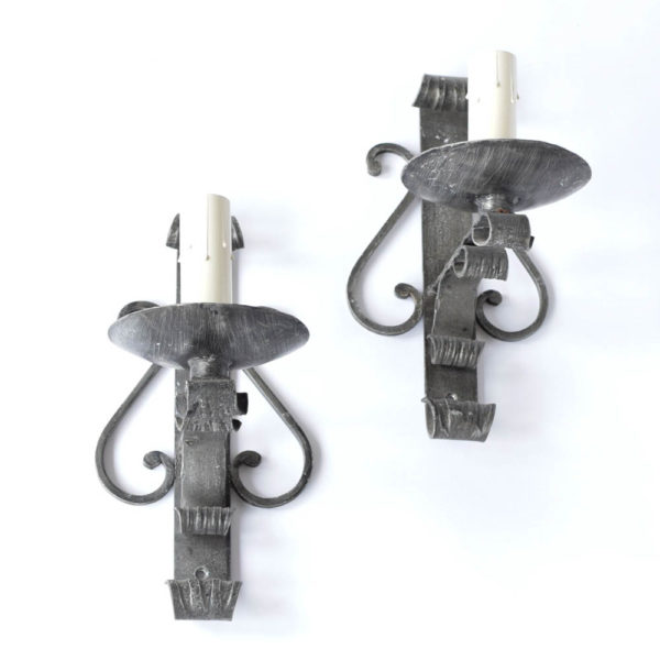 Vintage Iron Sconces from Belgium with 1 Light