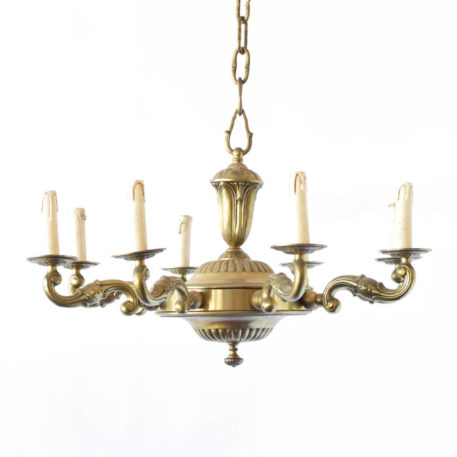 Antique Bronze chandelier fro France in Art Deco Style