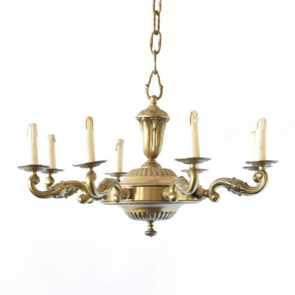 Antique Bronze chandelier fro France in Art Deco Style
