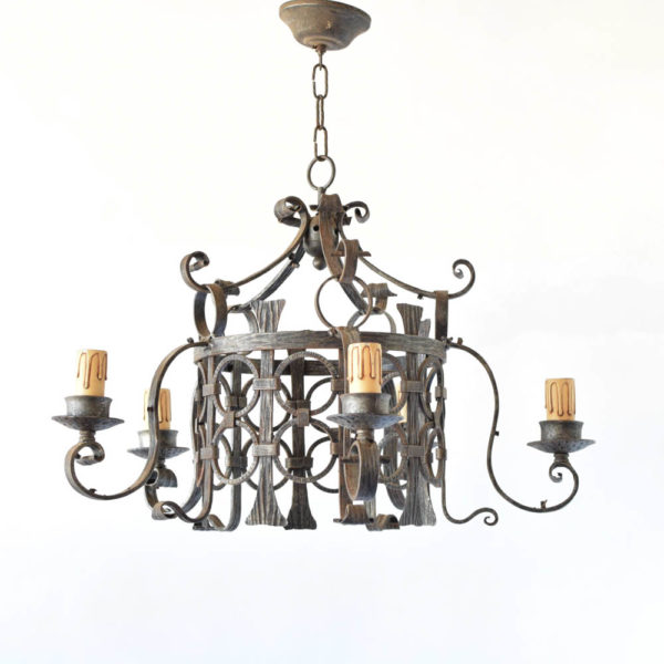 Iron Chandelier from France