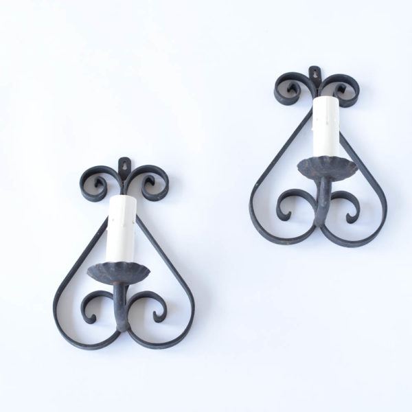 Pair of Simple iron Sconces from France