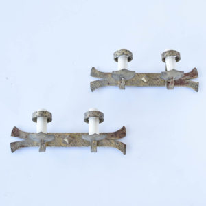 Antique Spanish Sconces with Horizontal Form