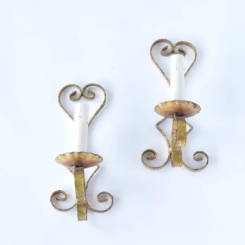 Vintage Iron Sconces from Spain