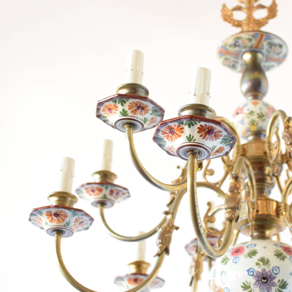 Polychrome delft chandelier the big chandelier polychrome porcelain chandelier from holland mozeypictures Gallery
