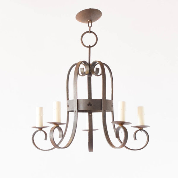 Antique clover cut out Chandelier from France