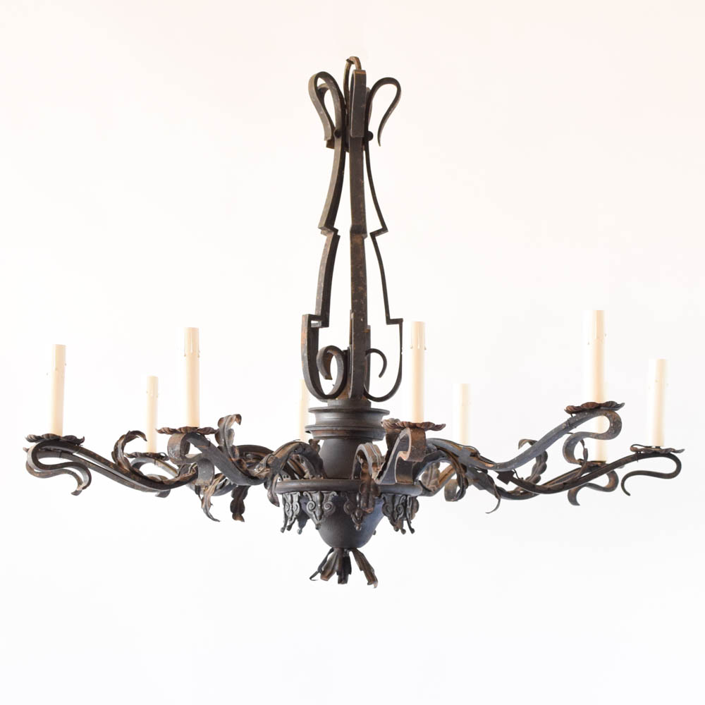 Large simple iron chandelier the big chandelier large simple chandelier from belgium arubaitofo Choice Image