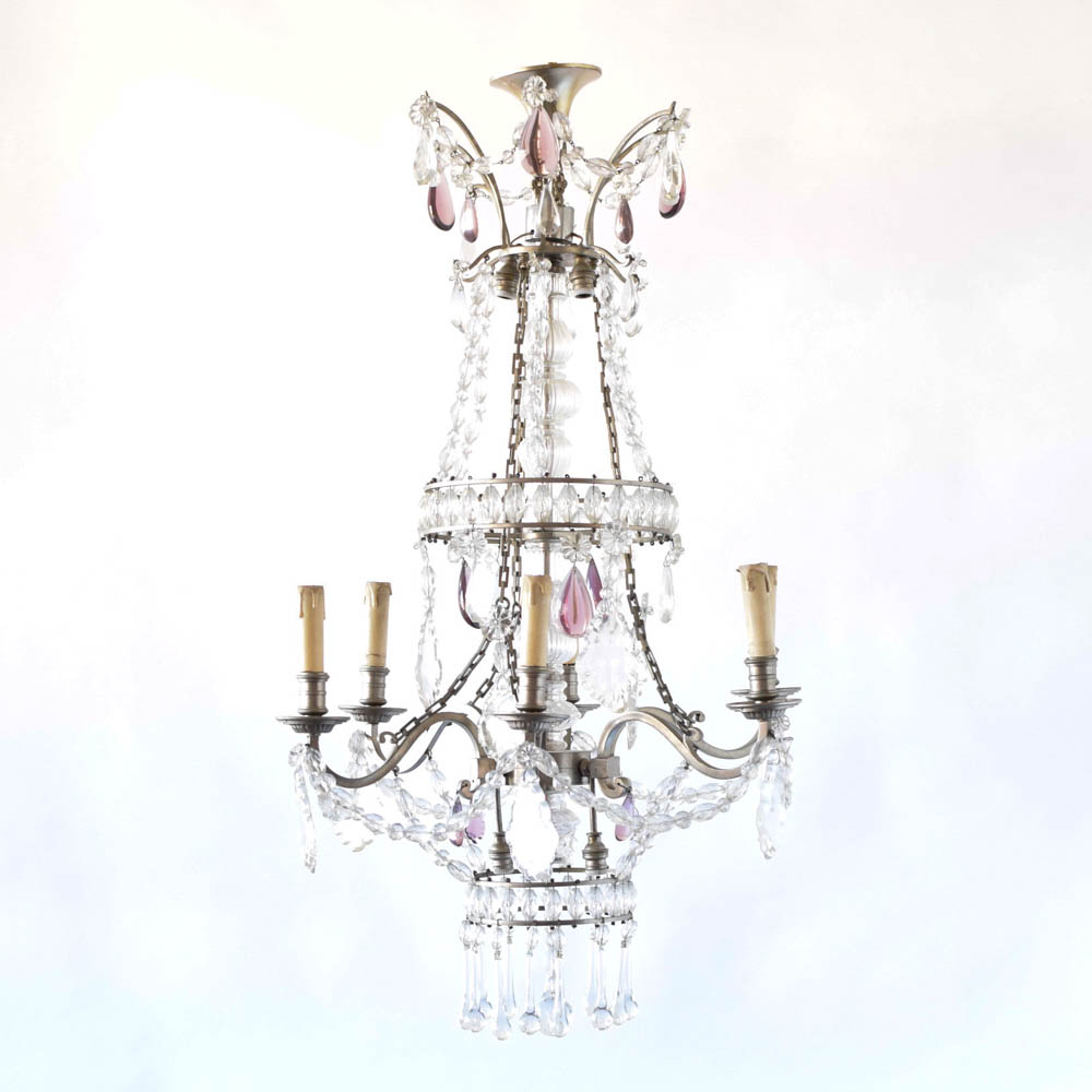 Flemish bronze chandelier with birds the big chandelier french silver chandelier w crystals arubaitofo Gallery