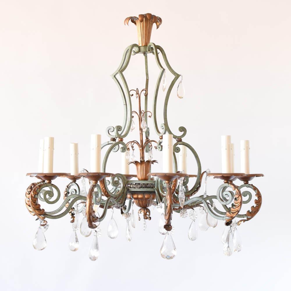 Large iron crystal chandelier the big chandelier large iron and crystal chandelier from belgium aloadofball Choice Image