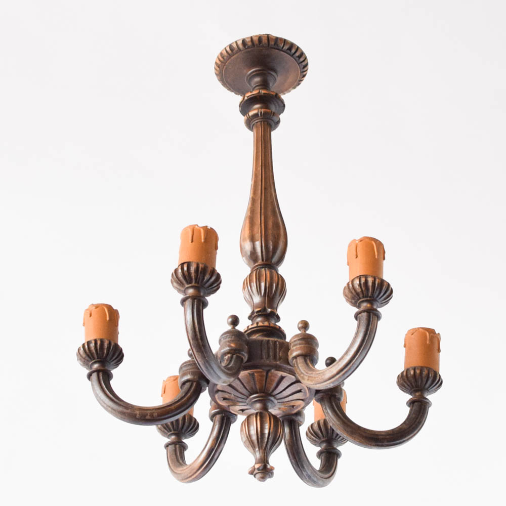 Tall carved wood chandelier the big chandelier vintage carved wooden chandelier from belgium aloadofball Gallery