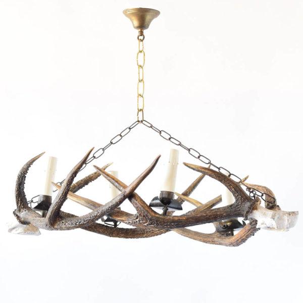 Horn Chandelier from Belgium