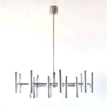 Mid-century chandelier from Italy with up and down lighters