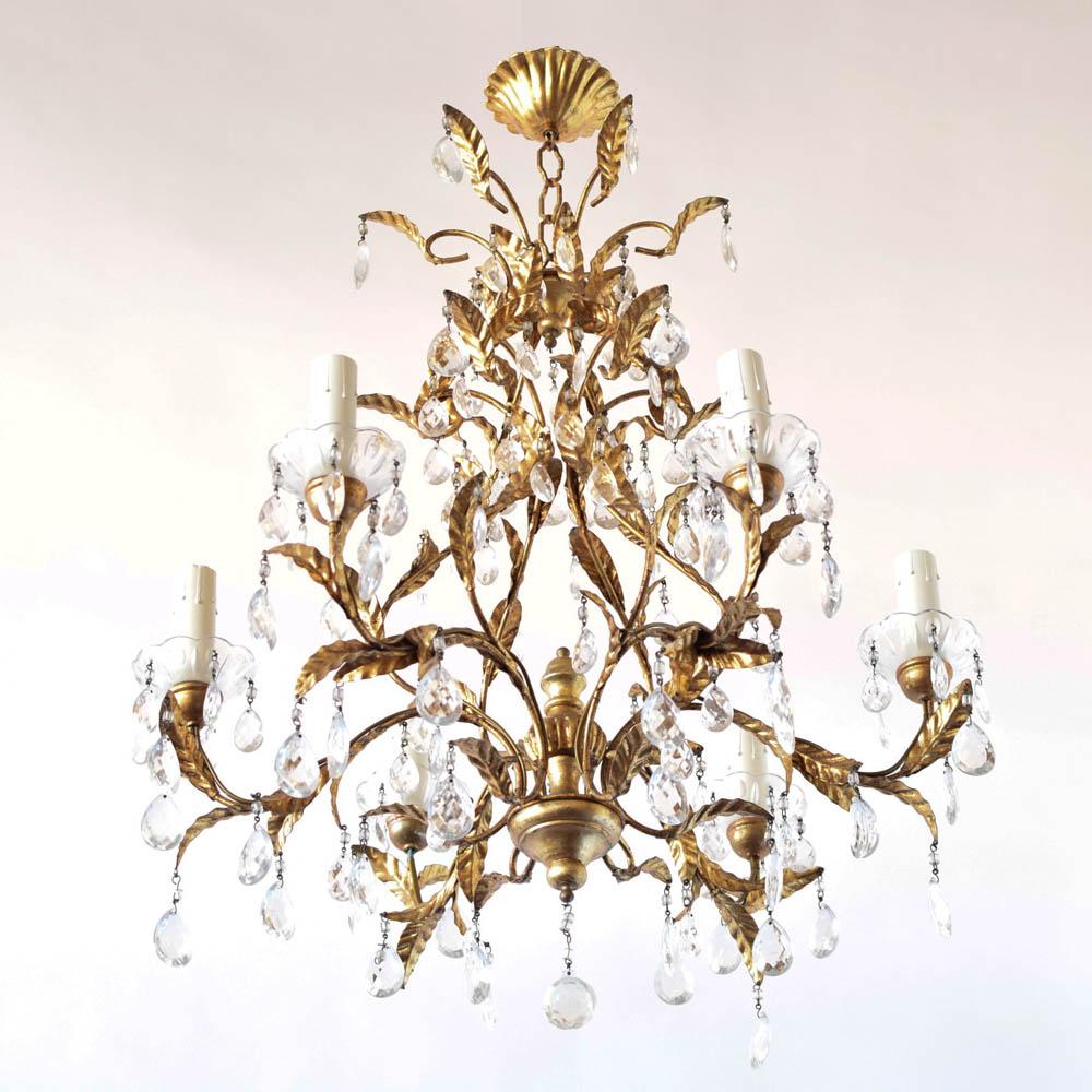 Italian woodiron crystal chandelier the big chandelier wood iron crystal chandelier from italy aloadofball Gallery