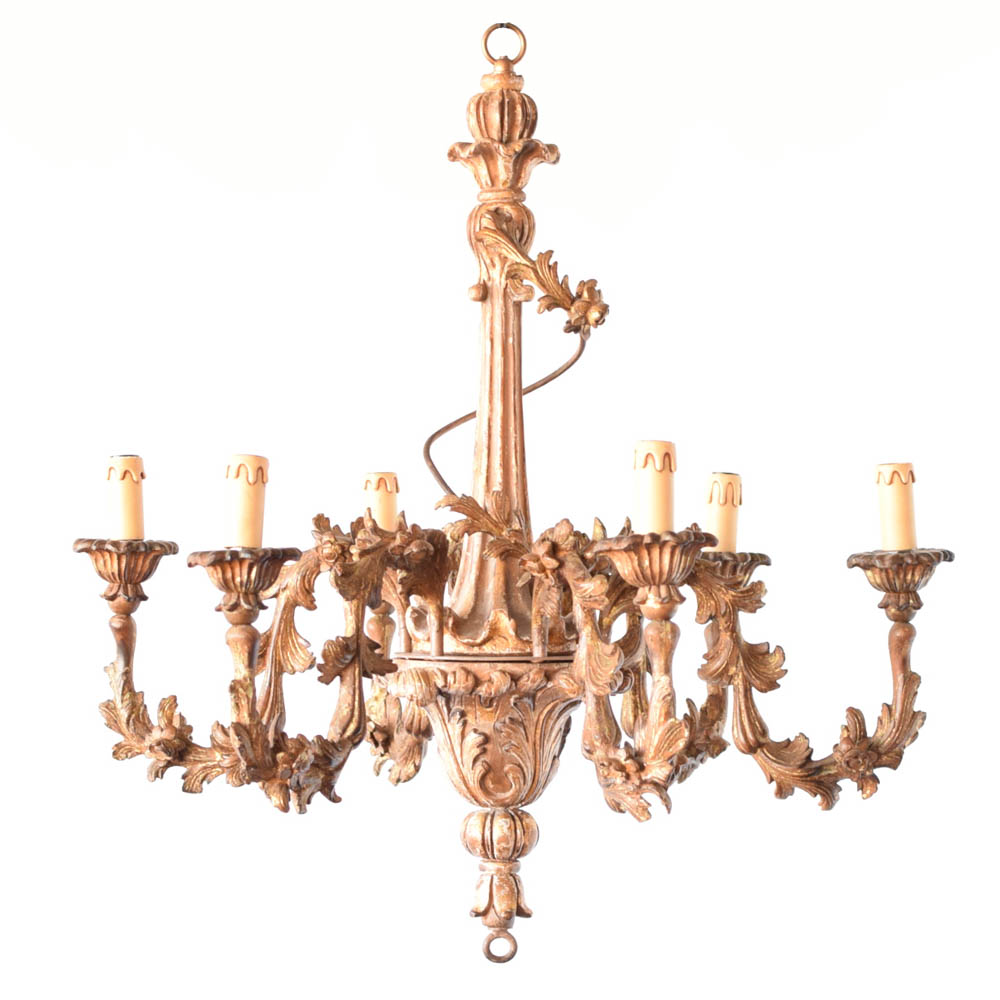 Italian carved wood chandelier the big chandelier carved wood and iron chandelier from italy arubaitofo Gallery