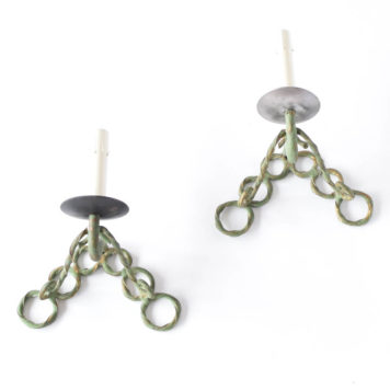 Sconces with iron ring design from Europe