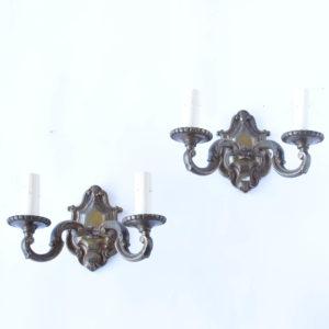Pair of Bronze sconces from Flemish in Belgium