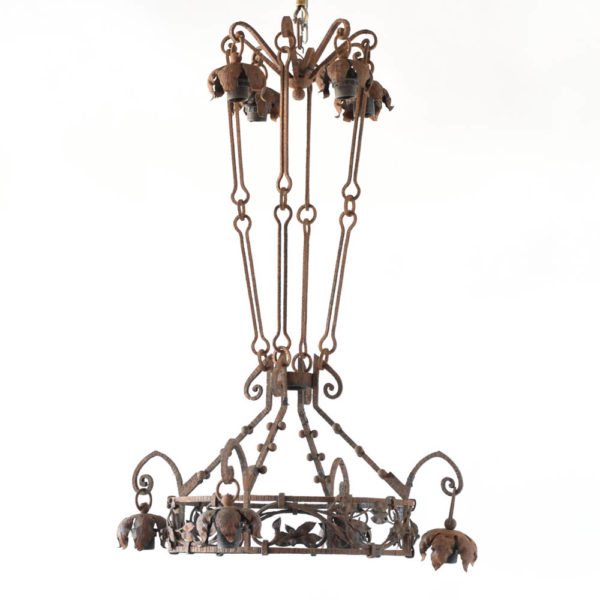Ring Iron Chandelier from France
