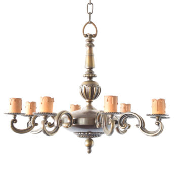Flemish Bronze chandelier from Belgium
