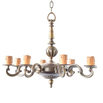Flemish Bronze chandelier from Belgium