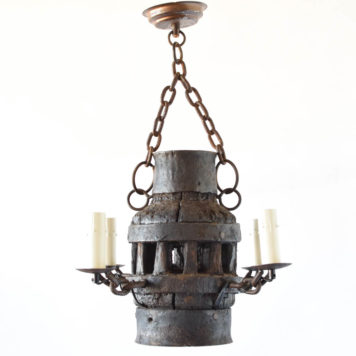 Wheel Hub Chandelier from Belgium