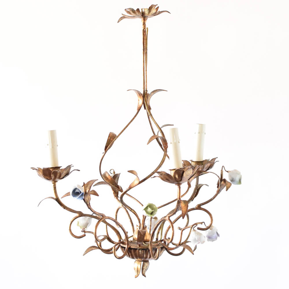 Chandeliers archives page 2 of 9 the big chandelier gilded italian chandelier wflowers aloadofball Choice Image
