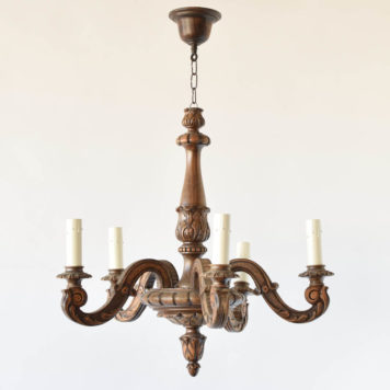 Carved wood chandelier from Belgian