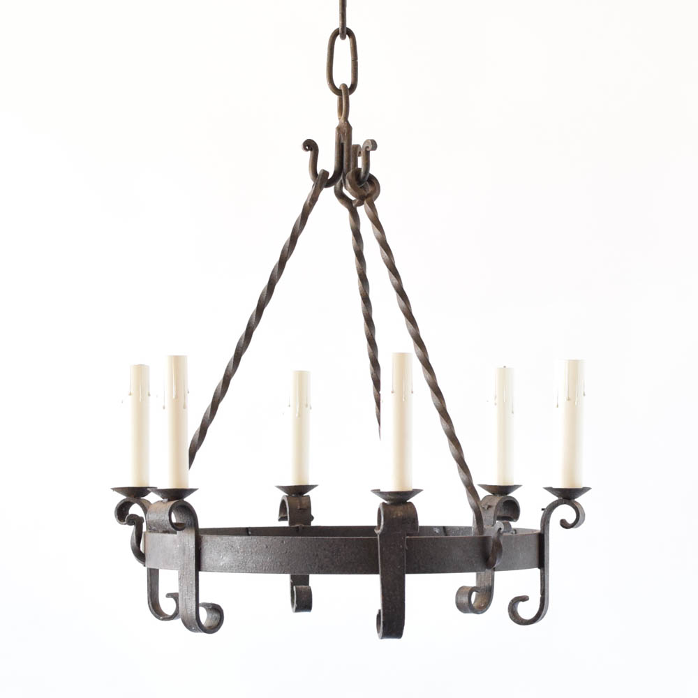 Simple iron ring chandelier the big chandelier simple iron ring chandelier from belgium arubaitofo Choice Image