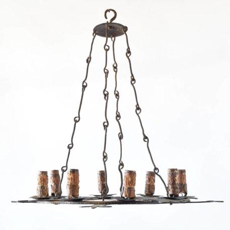 Flat fluer de lis chandelier from Spain