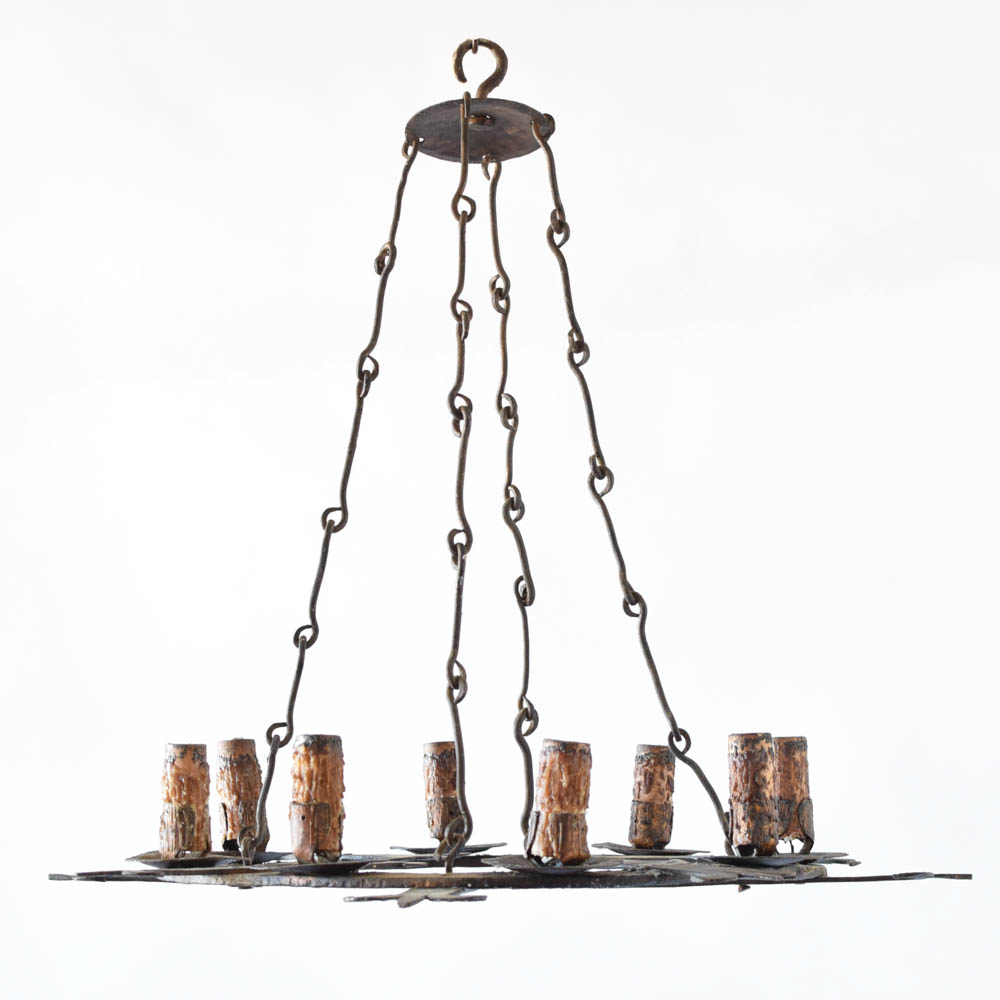 Long flat chandelier wshield the big chandelier flat fleur de lis chandelier arubaitofo Images