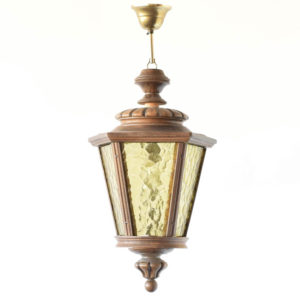 carved wood lantern from Belgium