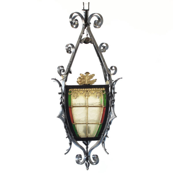 Stained glass lantern from England