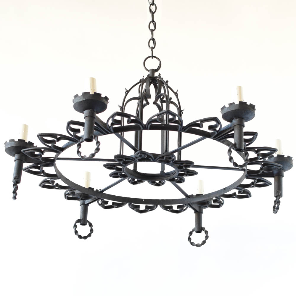 Belgian neo gothic chandelier the big chandelier neo gothic era chandelier from belgium mozeypictures Gallery