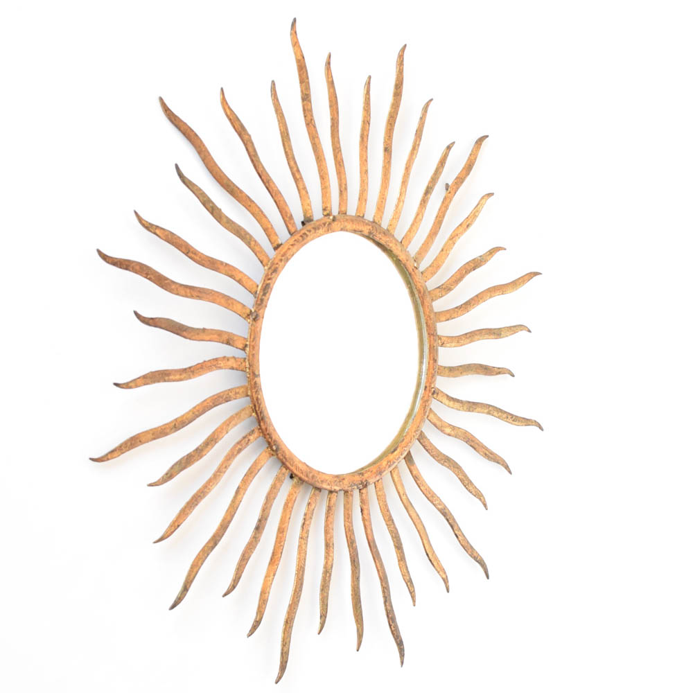 Sun form iron mirror the big chandelier sun form mirror from europe arubaitofo Image collections
