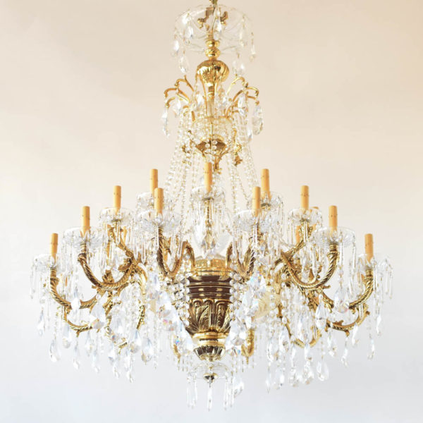 Gold plated chandelier made by PBR reproduced recently