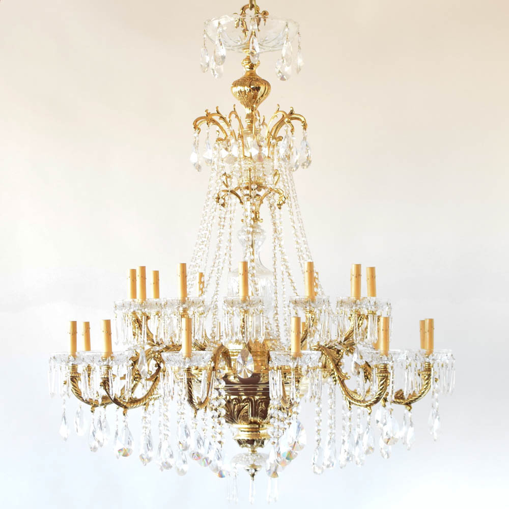 Gold plated crystal chandelier reproduction the big chandelier gold plated chandelier made by pbr reproduced recently aloadofball Choice Image