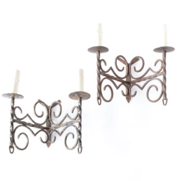 Pair of iron sconces from Belgium